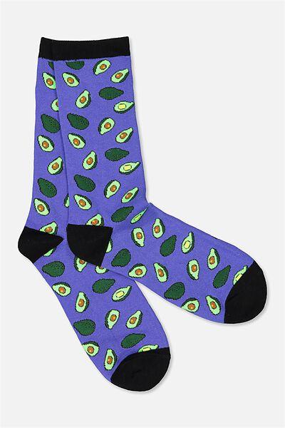 Mens Novelty Socks, AVOCADO
