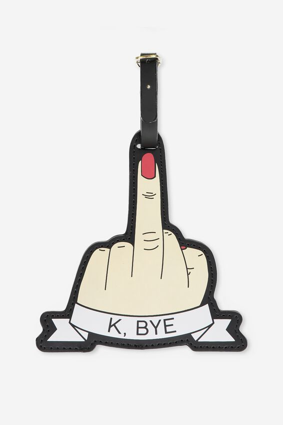 Shape Shifter Luggage Tag, RUDE FINGER!