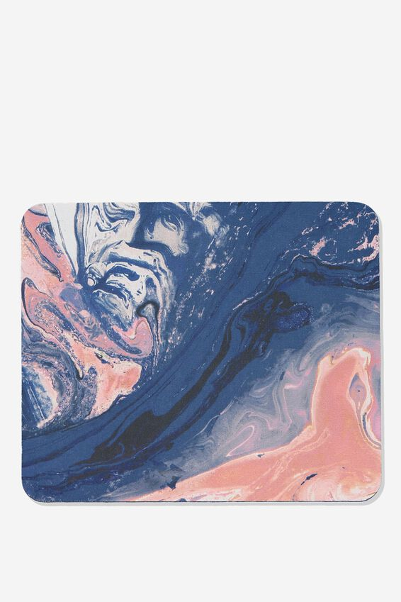 Neoprene Mouse Pad, MOODY MARBLE