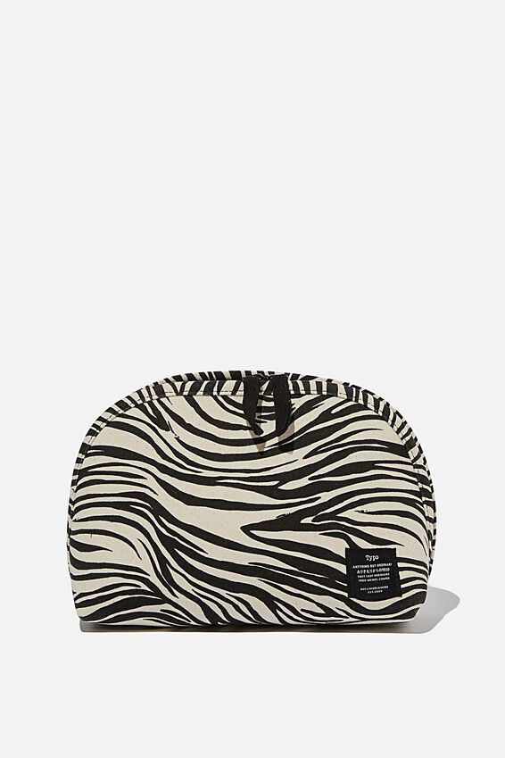 Canvas Essential Pouch, ABSTRACT ZEBRA