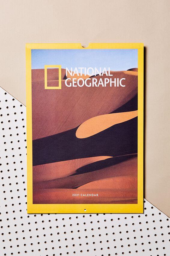 2021 A3 Art Series Calendar, LCN NATIONAL GEOGRAPHIC