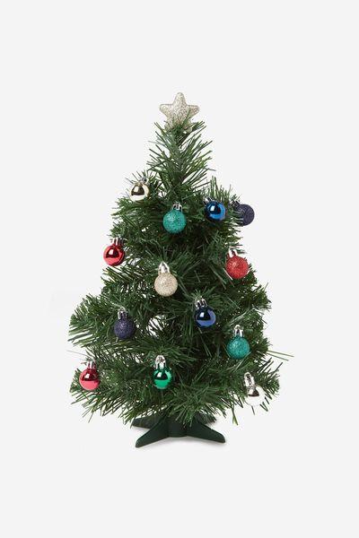 Mini Xmas Tree Pack, GREEN & TRADITIONAL
