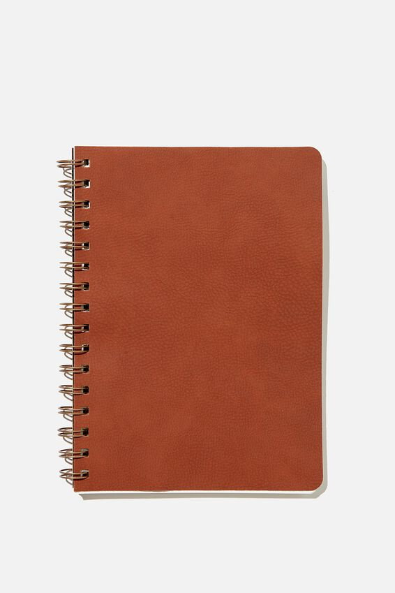 A5 Dot Daily Scribe Notebook, RUSSET