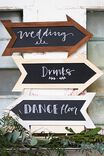 Chalk Board Sign, WHITE WASH