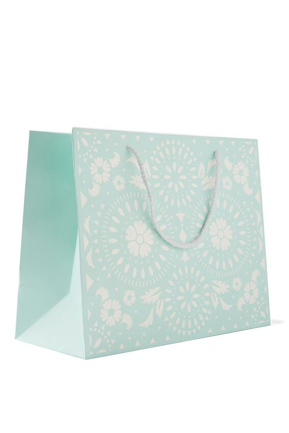 Stuff It Gift Bag - Medium, WHITE & BLUE LACE
