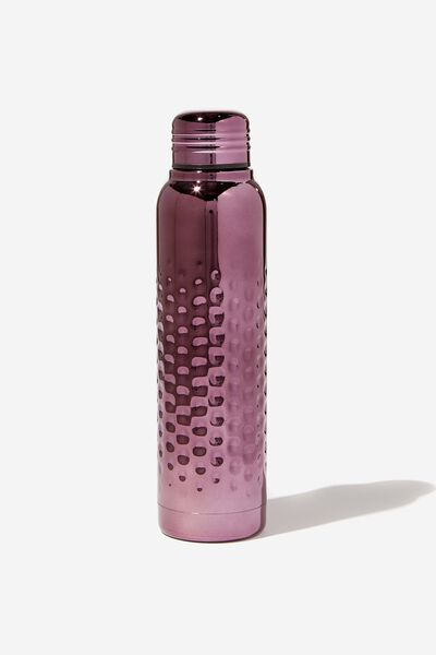 Premium Small Metal Drink Bottle, HAMMERED MAUVE