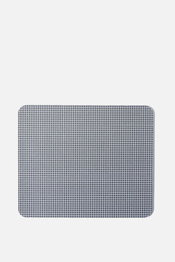 Neoprene Mouse Pad, BLACK & WHITE GRID