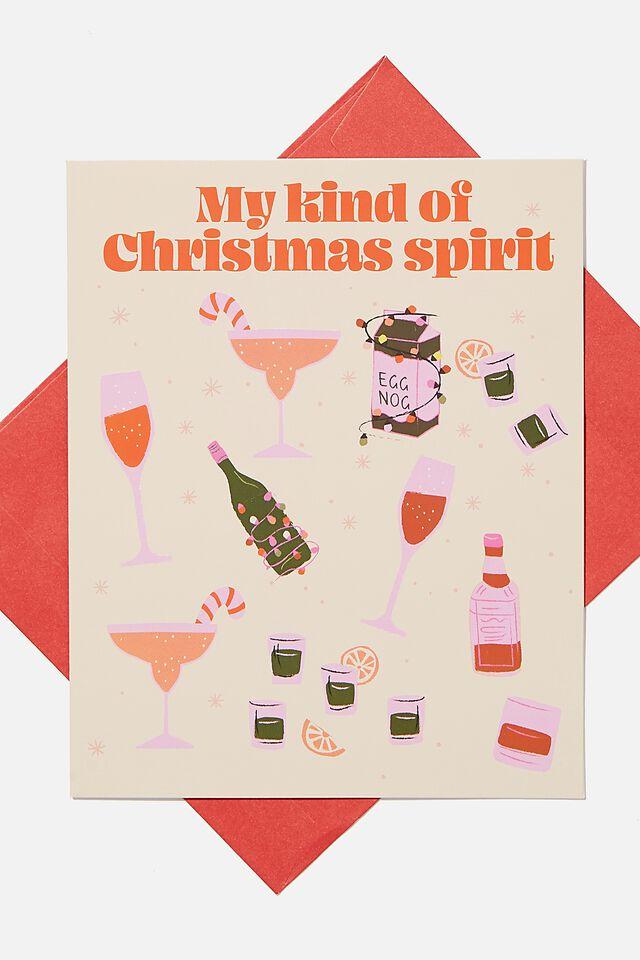 Christmas Card, MY KIND OF CHRISTMAS SPIRIT!