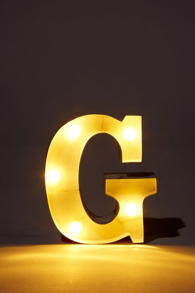 Mini Marquee Letter Lights 3.9inch, MARBLE G