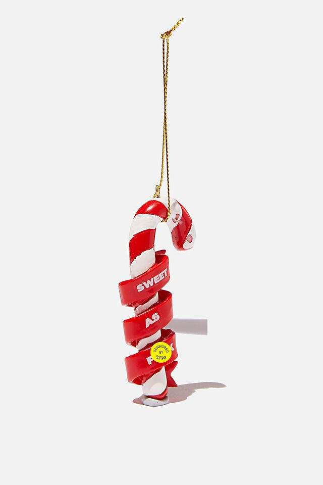 Resin Christmas Ornament, SWEET AS F@$K CANDY CANE
