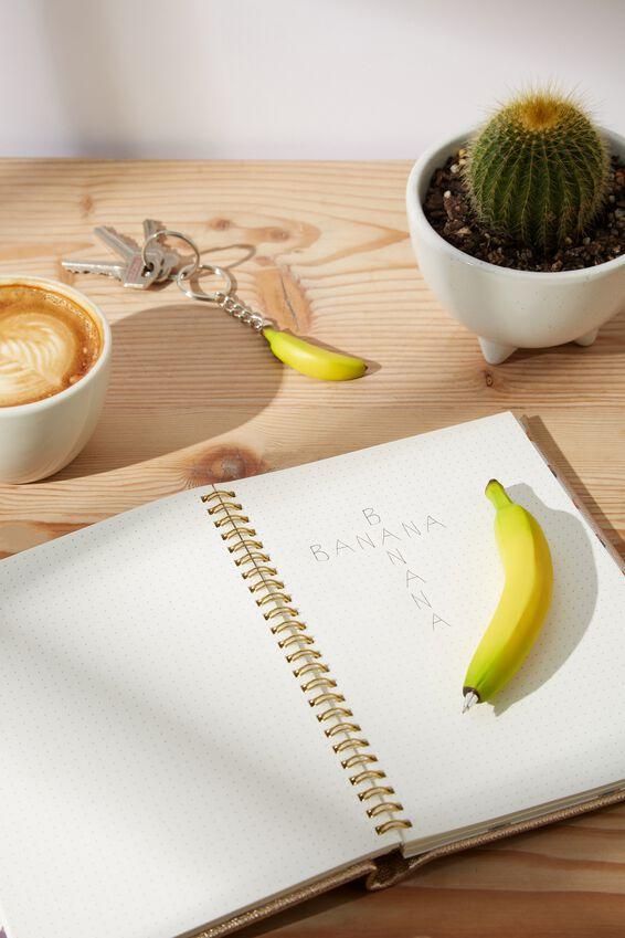 Pen And Keyring Set, BANANA