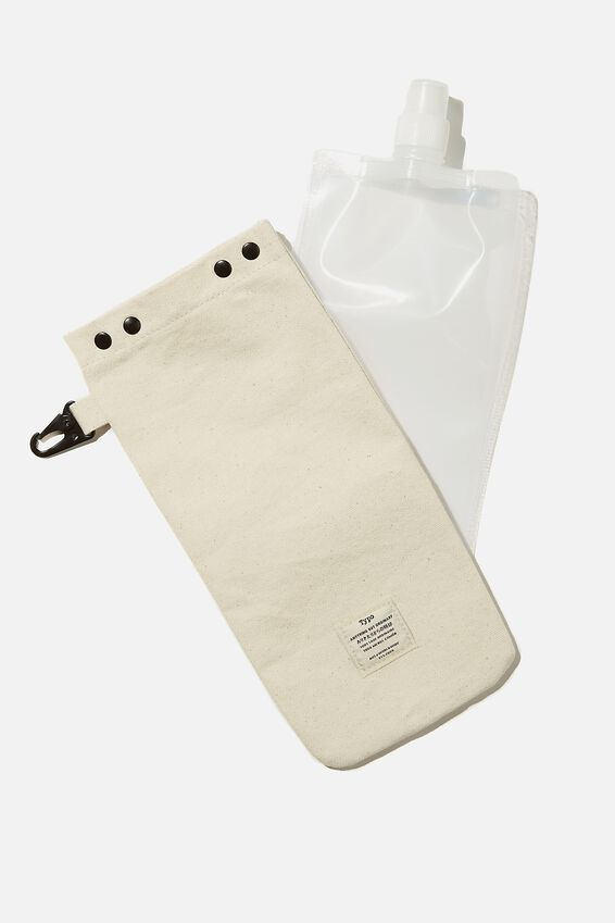 Drip Canvas Flask, LET S DRINK!!