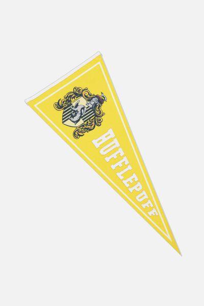 Pennant Wall Flag, LCN WB HP HUFFLEPUFF