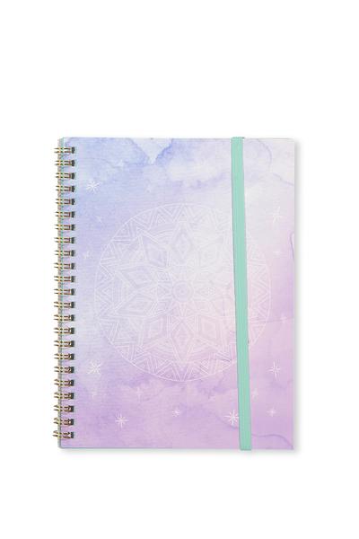 Small Spinout Notebook Usa 8X6, WATERCOLOUR MANDALA