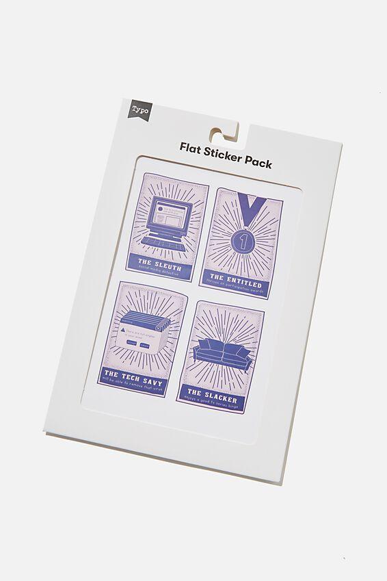Flat Sticker Pack, TAROT CARDS