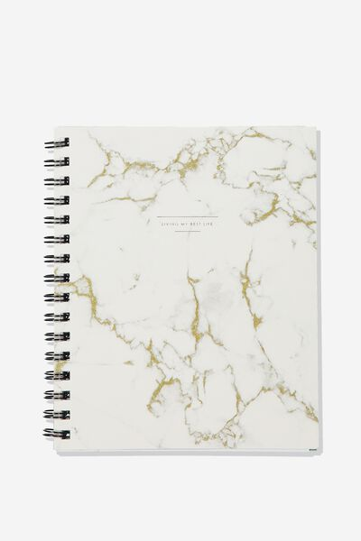 A5 Campus Notebook, WHITE MARBLE LOTS TO DO