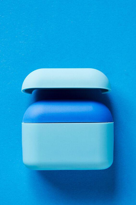 Ear Bud Sleeve Pro, DUSTY TURQUOISE & CLASSIC BLUE