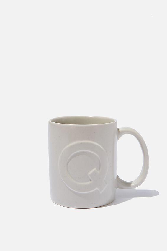 Alphabet Anytime Mug, SPECKLED Q