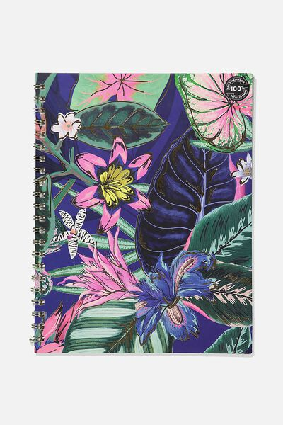 A4 Campus Notebook Recycled, RESORT FLORAL