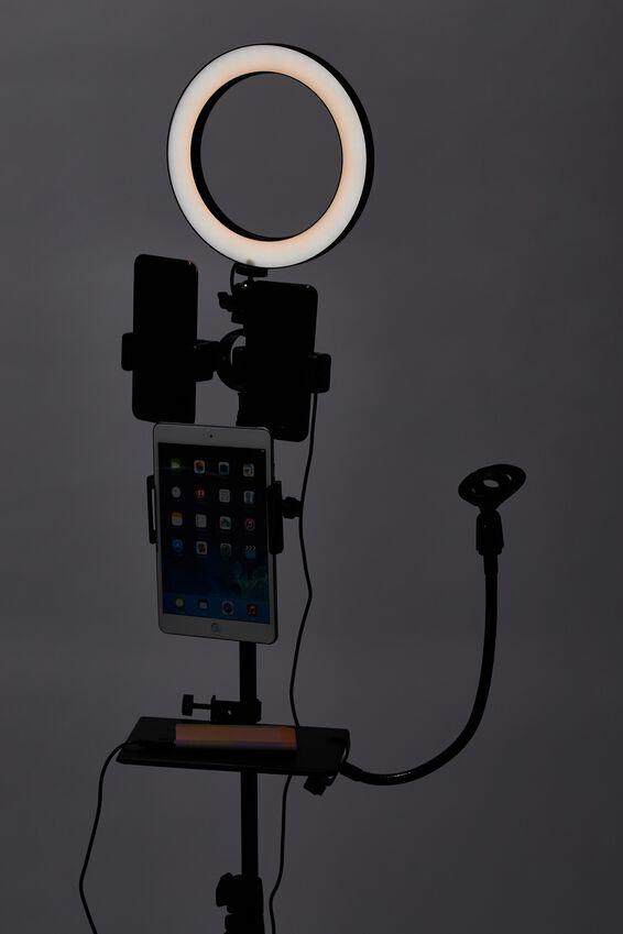 Vlog Life 20cm Ring Light, BLACK