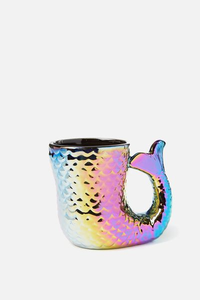 Novelty Shaped Mug, OIL SLICK MERMAID TAIL