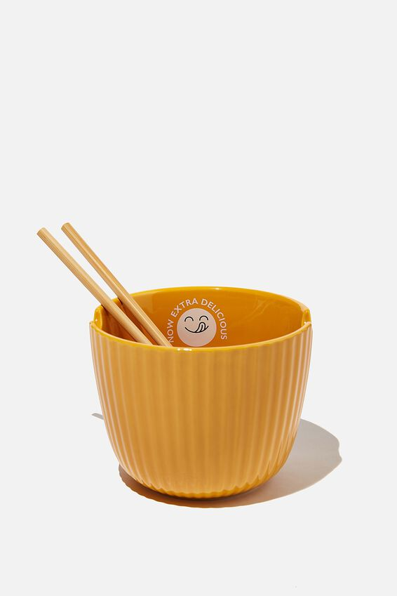 Noodle Bowl, TEXTURED MUSTARD