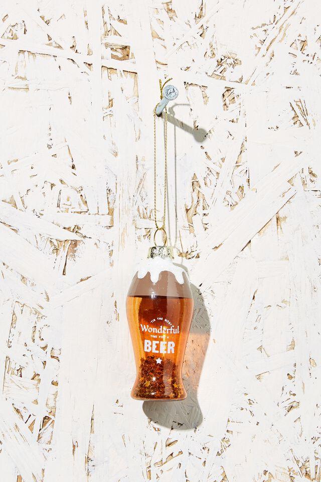 Small Glass Christmas Ornament, BEER GLASS!