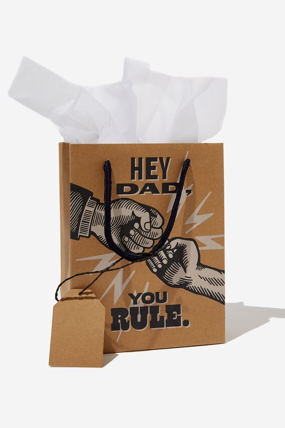 Small Gift Bag with Tissue Paper, HEY DAD