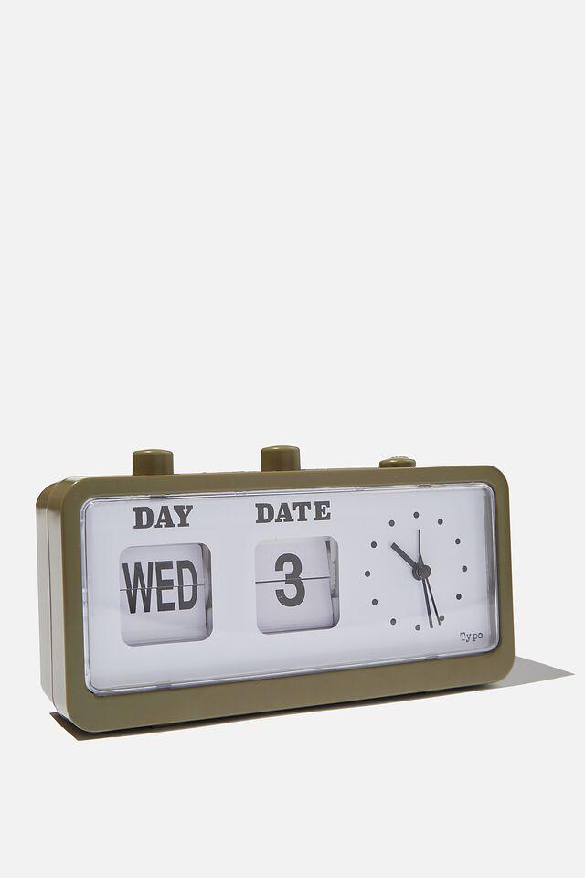 Retro Flip Clock, KHAKI