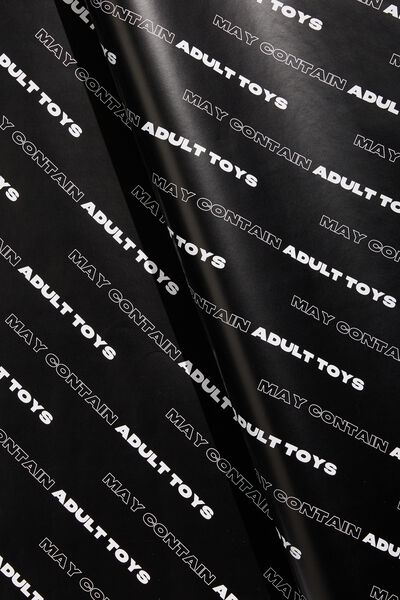 Christmas Wrapping Paper Roll, MAY CONTAIN ADULT TOYS!