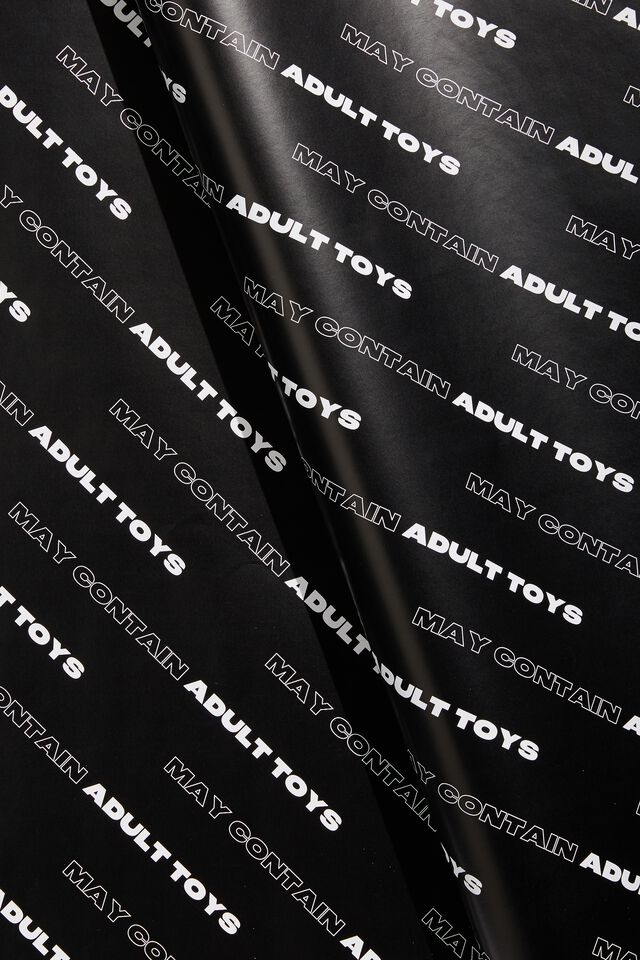 Wrapping Paper Roll, MAY CONTAIN ADULT TOYS!