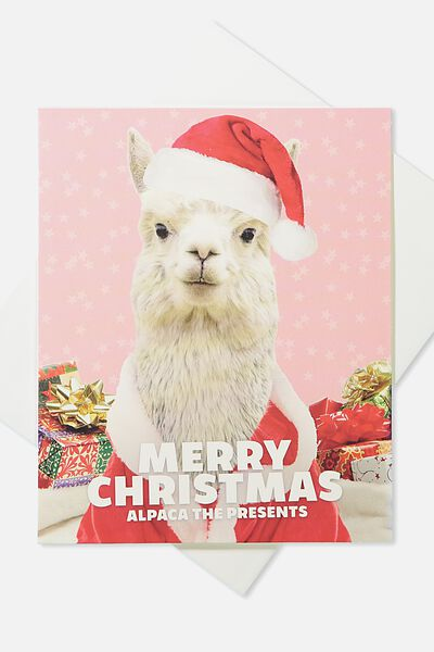 2018 Christmas Card, ALPACA THE PRESENTS