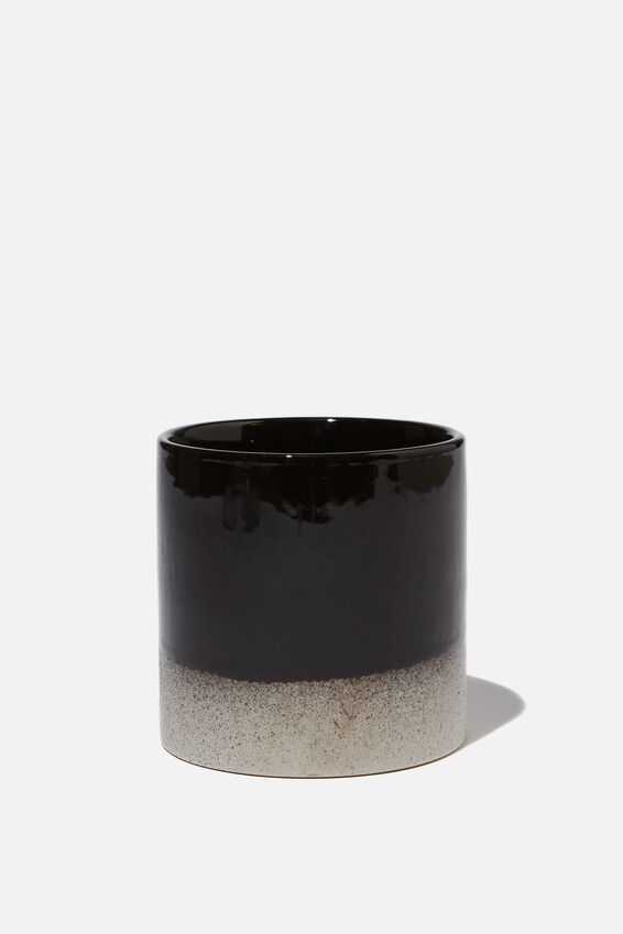 Small Shaped Planter, BLACK & WHITE DUO