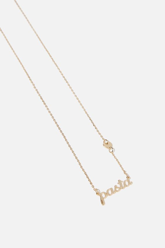 Novelty Necklace, PASTA HEART