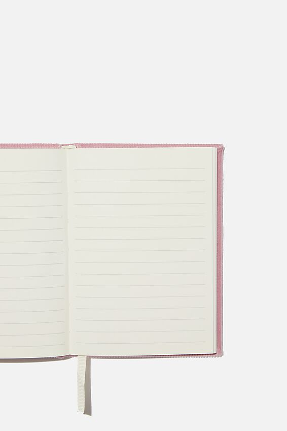 A6 Oxford Notebook, VIOLA RIB VELVET
