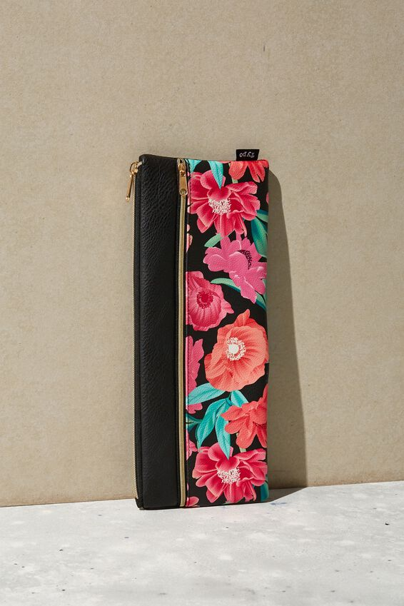 Patti Pencil Case, WILD PEONY FLORAL