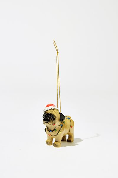Christmas Ornament, PARTY PUG 3.0