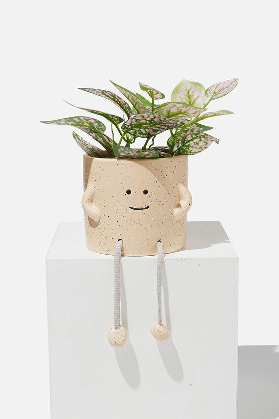 Midi Shaped Planter, NATURAL ROPE LEGS
