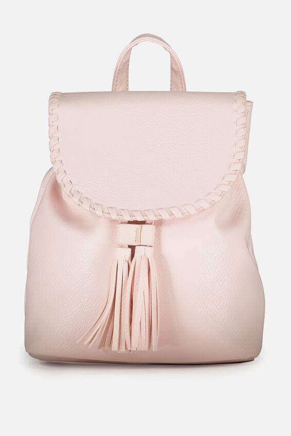 Drawstring Backpack, BLUSH