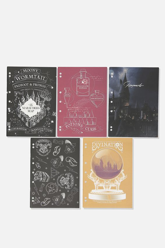 Work It Out Notebook pk 5, LCN WB HARRY POTTER
