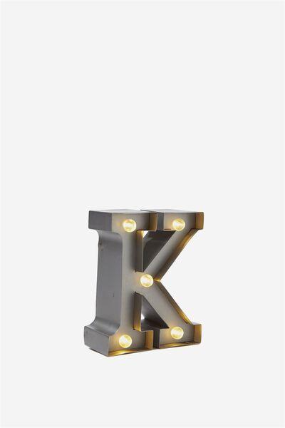 Mini Marquee Letters 10Cm, SILVER K