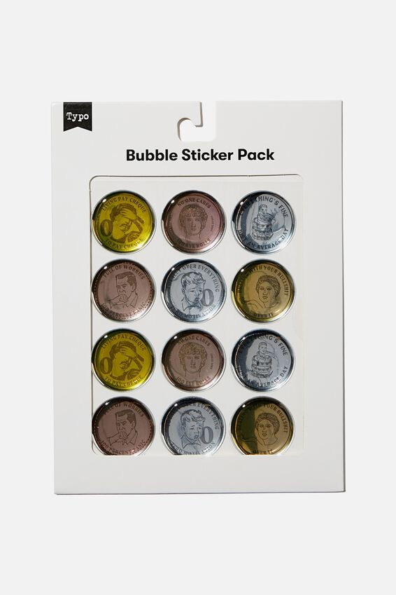 Bubble Sticker Pack, COINS