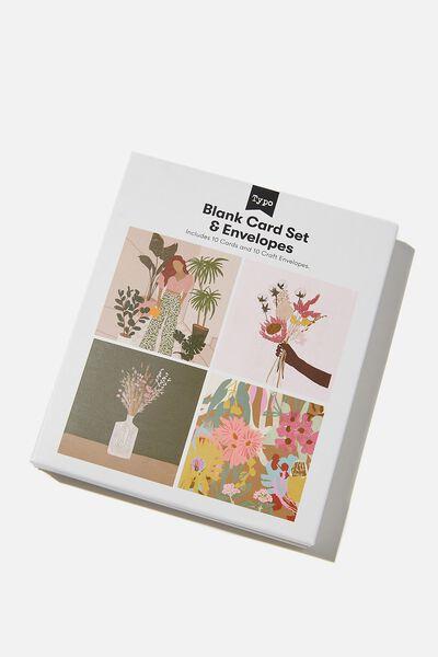 Blank Card Set 10 Pack, FLORAL ILLUSTRATIONS