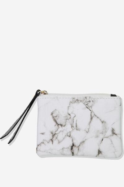 Fashion Coin Purse, WHITE MARBLE