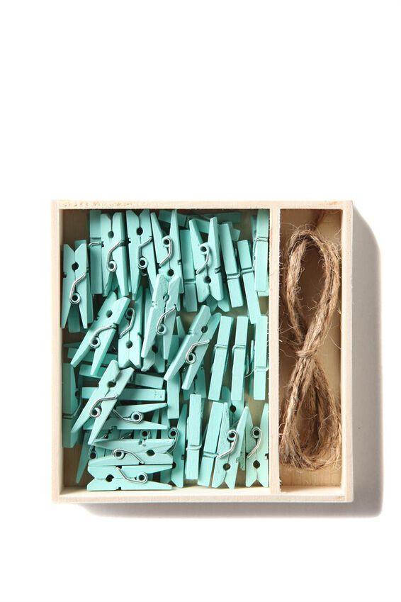 Mini Peg Pack, FRANKIE BLUE