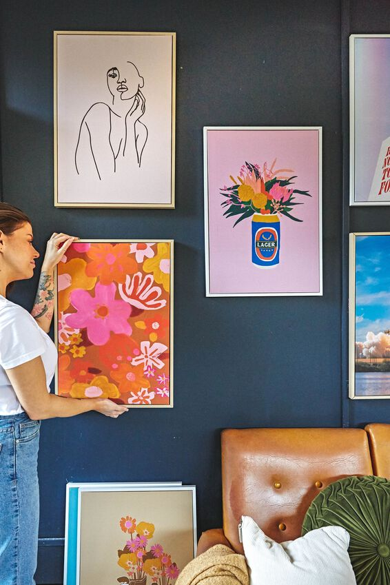 40 X 60 Canvas Art, HAPPY FLOWERS LARGE