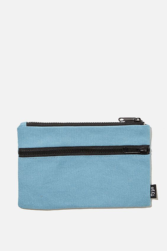 Archer Pencil Case, DENIM BLUE CANVAS