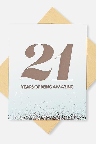 Age Card, 21 AMAZING