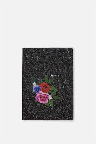 2018 19 A6 Pvc Diary, FLORAL PATCH