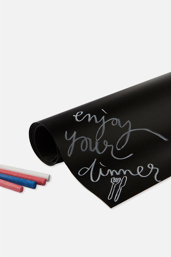 Chalkboard Table Runner, BLACK CHALKBOARD